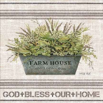 Framed Galvanized Farmhouse God Bless Print