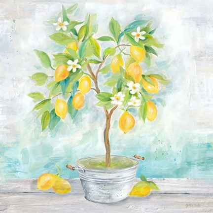 Framed Country Lemon Tree Print