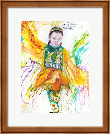 Framed Shawl Dancer Print