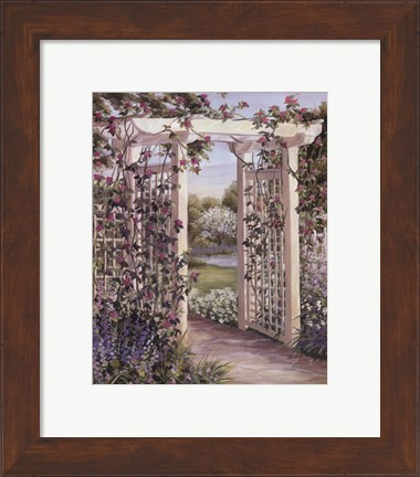 Framed Garden Escape I Print