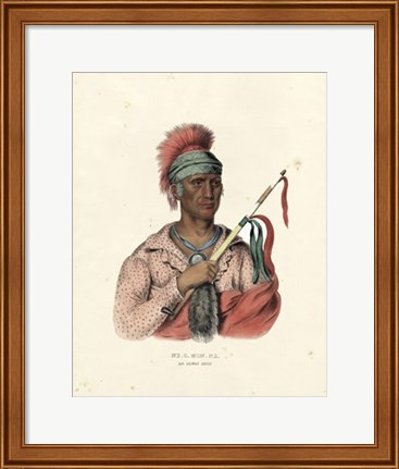 Framed Ioway Chief Print
