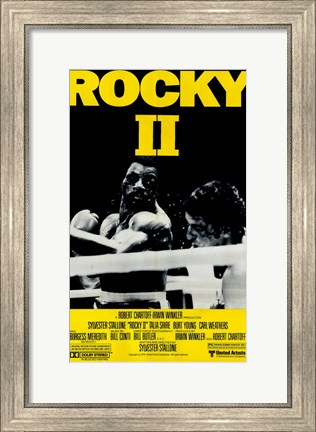 Framed Rocky 2 Punched Print