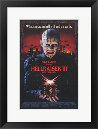 Framed Hellraiser 3 Hell on Earth Print