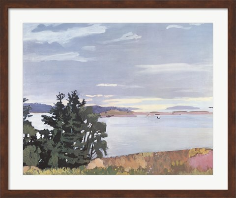 Framed View of Barred Island Print