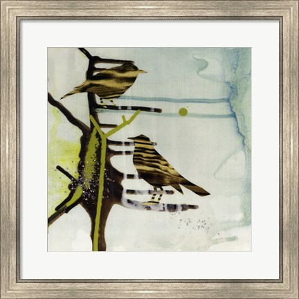 Framed Chit, Chat, Chirp Print