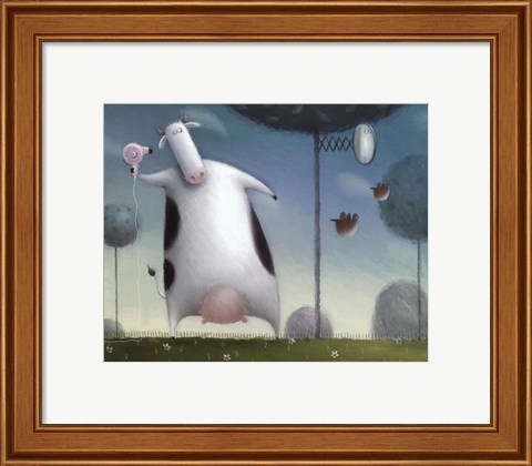 Framed Saturday Night Heifer Print