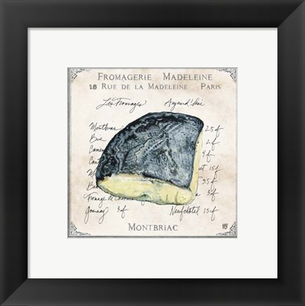 Framed Fromages I Print
