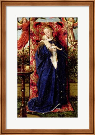 Framed Madonna at the Fountain, 1439 Print