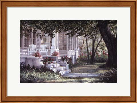 Framed Country Porch Print