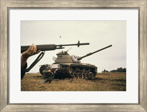 Framed M-14 Rifle M60 Tank Print