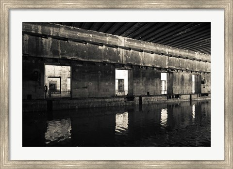 Framed Interiors of World War Two-era Nazi submarine, Bordeaux, Gironde, Aquitaine, France Print