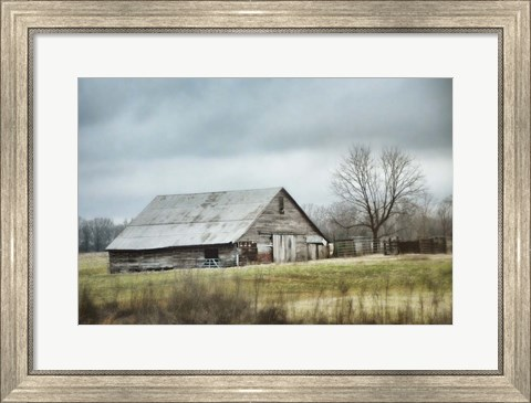 Framed Old Gray Barn Print