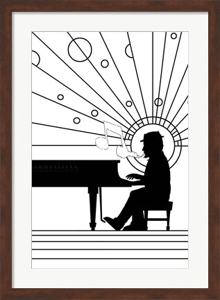 Framed Piano Player 1 Print