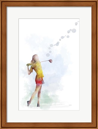 Framed Golf Player 2 Print
