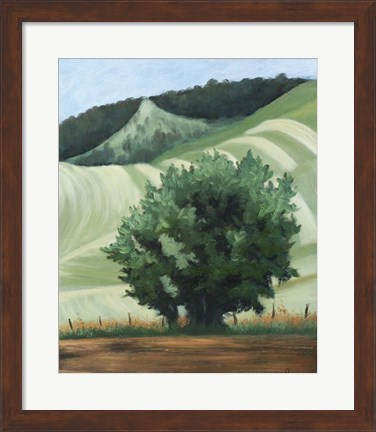 Framed Waitsburg Wheat Country Print