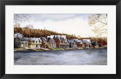 Framed Boat House Row Print